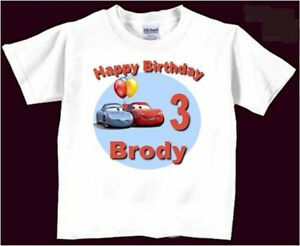 Image Is Loading Cars Birthday T Shirt Personalized Boys Girls Kids