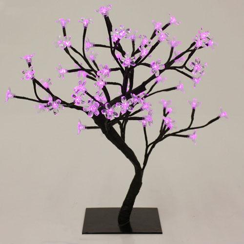 "18"" Pink 48 LED Lights Bonsai Cherry Blossom Flower Tree Night Light Lamp"
