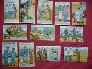 SERIE-DE-12-CPA-cartes-postales-anciennes-humoristiques-militaires-ww2-MAY-039-R