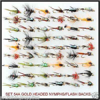 Trout Flies gold headed nymph buzzers S54