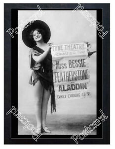 Historic-Bessie-Featherstone-in-039-Aladdin-039-1890s-Advertising-Postcard