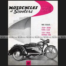 MOTOCYCLES N°172 DKW RT 350 NSU 300 GELÄNDE MAX 125 SUPER FOX WILMAN GUZZI 1956