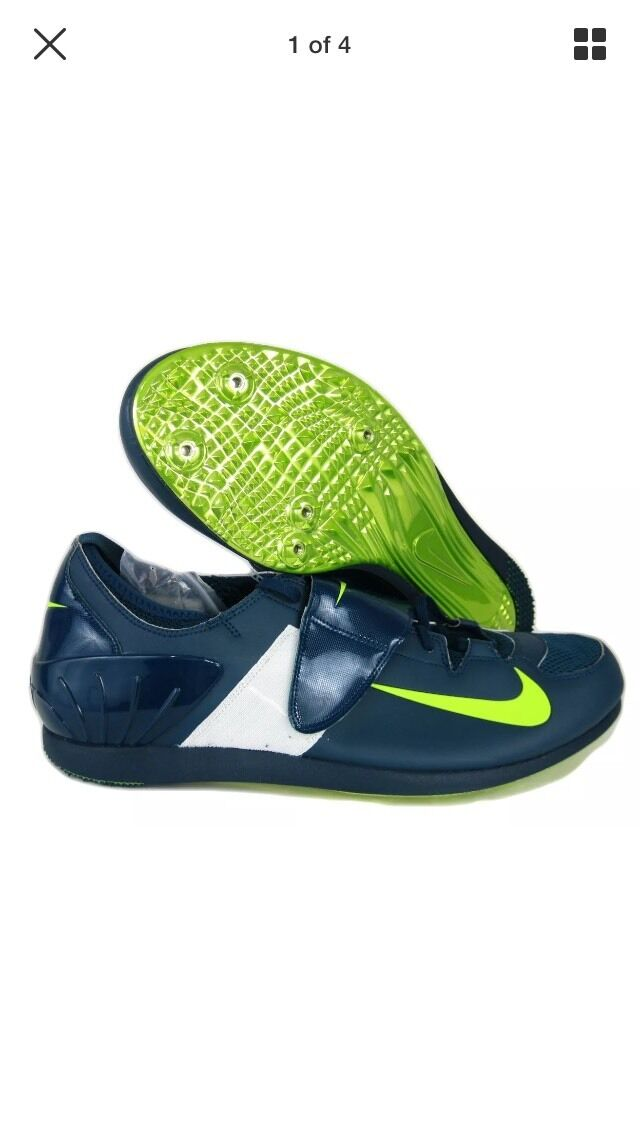 Nike Zoom PV II Pole Vault Track Spikes 317404 303 Mens 13 Blue/green-volt NNB