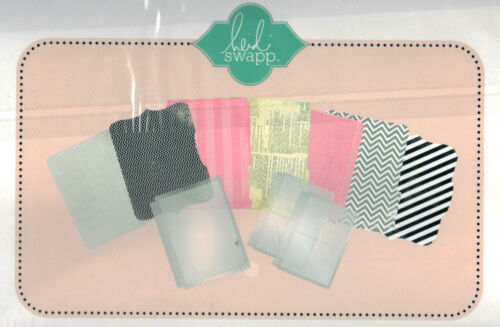 Heidi Swapp HELLO TODAY MEMORY FILES ALBUM scrapbooking INSERTS /& DIECUT PAGES