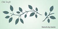 Prim Vine Lg. Stencil Leaf Twig Leaves Tree Branch Botanical Wall Yard Art Sign