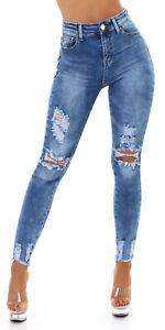 Jeans Ladies High Waist Skinny Jeans Trousers Used Look