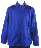 Nordic Track Mens Water Resistant Blue Jacket Performance Outerwear Size Large