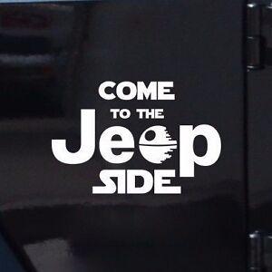 COME-TO-THE-JEEP-SIDE-Star-Wars-Dark-Side-Geek-Fun-Car-Vinyl-Sticker-Decal