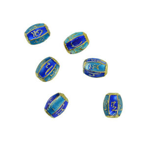 6 Pieces// Pack Filigree Buddhist Mantra Engraved Spacer Beads DIY Findings