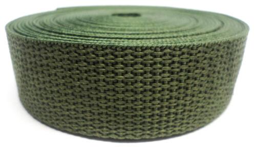 oliv grün! Gurtband 5 Meter Rolle €0,60//m Band PP Gurt 25 mm // 1.3 mm