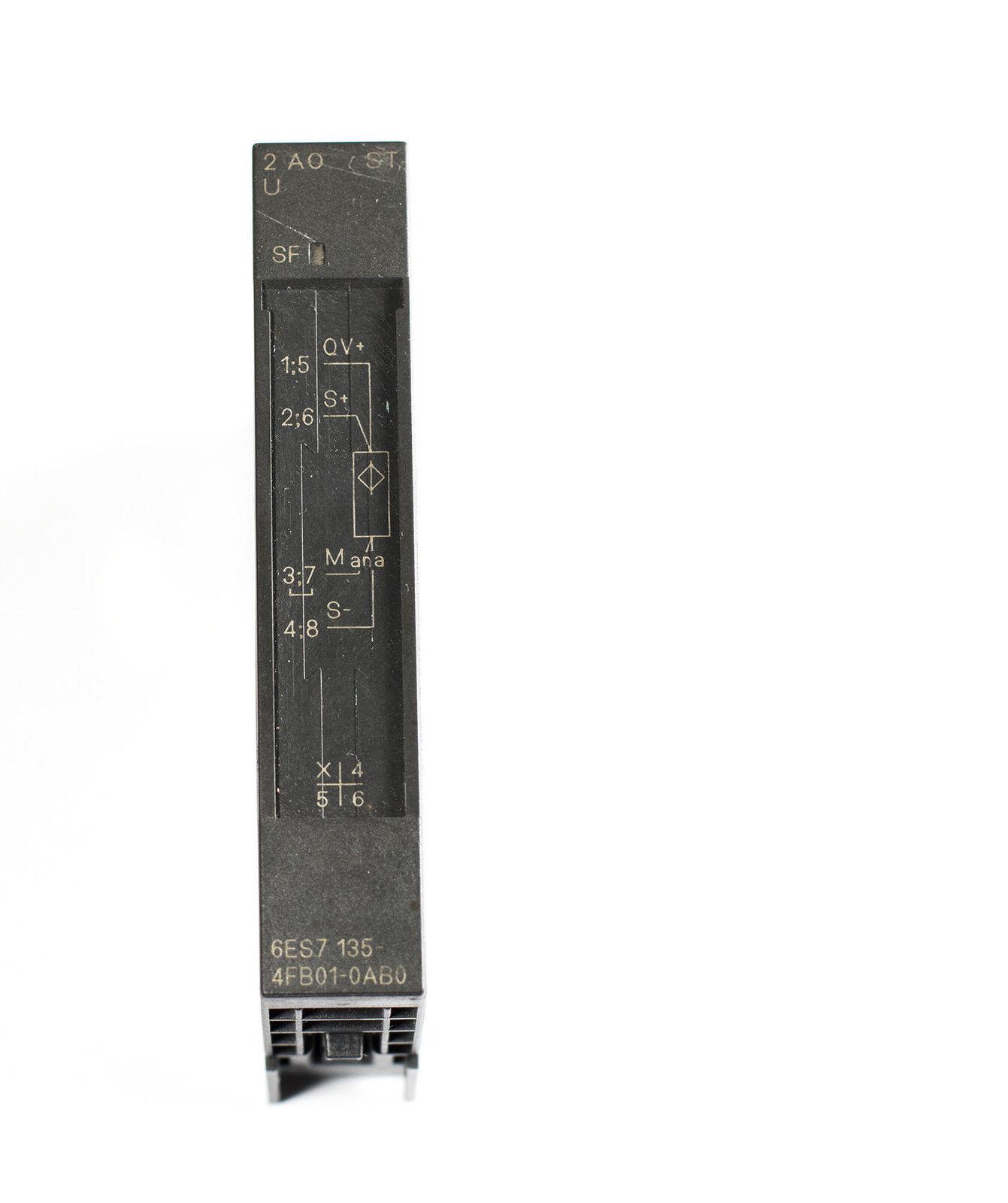 NEW Siemens Simatic ET200S 2 AO U //-10V 6ES7 135-4FB01-0AB0 6ES71354FB010AB0