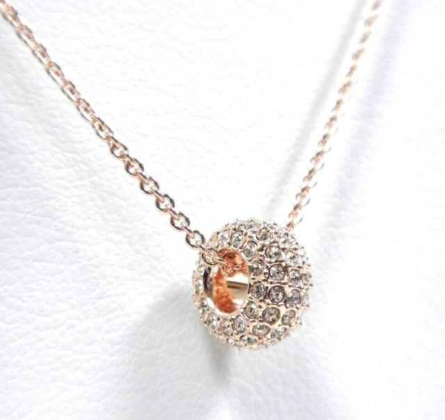 Swarovski stone round pendant pink rose gold plating 5383957 ebay stone round pendant silk pink rose gold plating 2018 swarovski jewelry 5383957 aloadofball Image collections