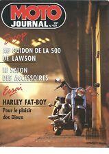 MOTO JOURNAL N°919 HARLEY DAVIDSON 1340 FAT BOY / 500 NSR / JCM 240 OXYGENE
