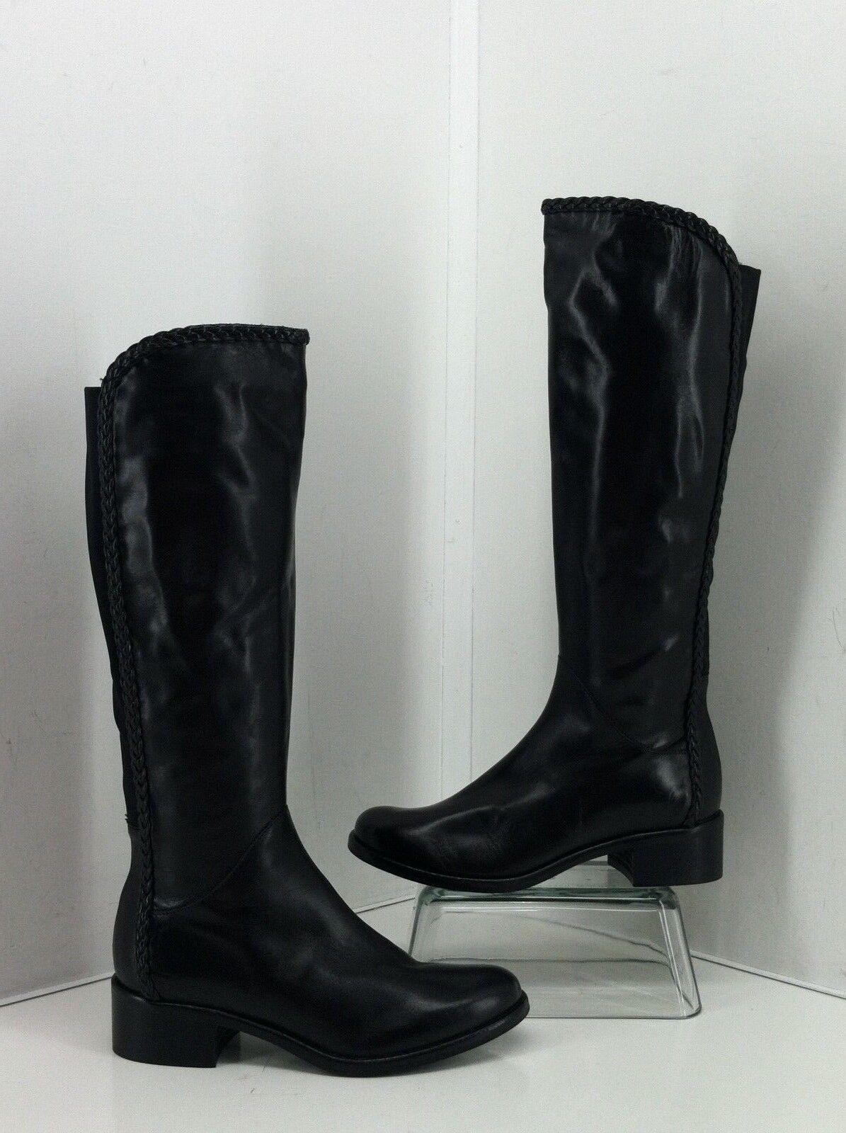 vendita online sconto prezzo basso Sesto Meucci stivali Dimensione 7.5 M Nattie nero Braided Accent Accent Accent Tall Leather  scelta migliore