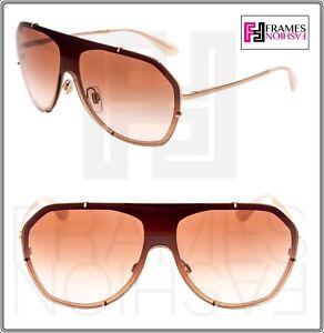 41c44d948c4 DOLCE   GABBANA 2162 Rose Gold Brown Pink Gradient DG2162 Shield ...