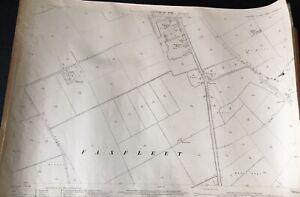 1909-Ordnance-Survey-Map-Plan-Faxfleet-Broomfleet-Vintage-Home-Interiors-Mancave