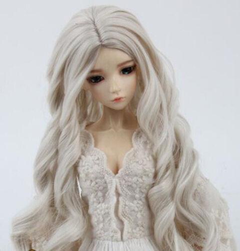New curls Big wavy Hair Wig For 1//3 1//4 1//6 BJD Doll FBE463