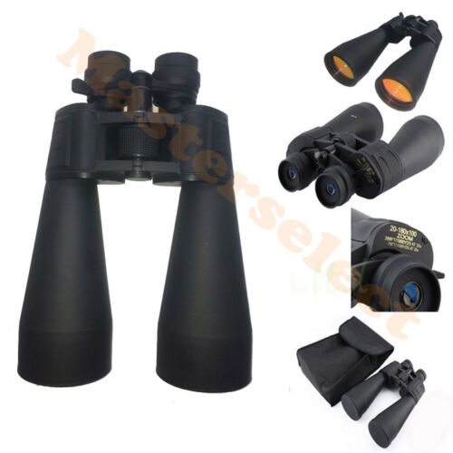 Pair of binoculars powerful Adjustable with Zoom for hunting Balcony 20-180X100