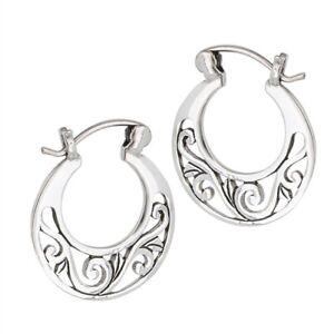 Sterling-Silver-Filigree-Hoop-Earrings