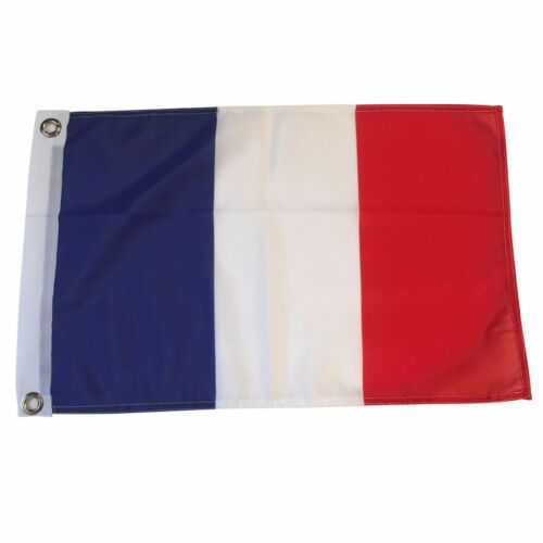 """France 12/"""" X 18/"""" Polyester Flag with Grommets #16"""