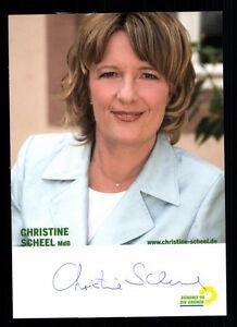 9071 Kr Wasserdicht Kompetent Christine Scheel Ak Original Signiert StoßFest Und Antimagnetisch