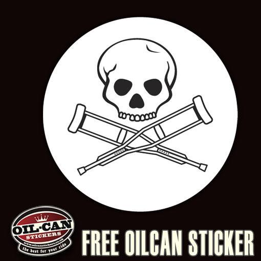 Jackass sticker 85mm x 85mm ratlook hoodride