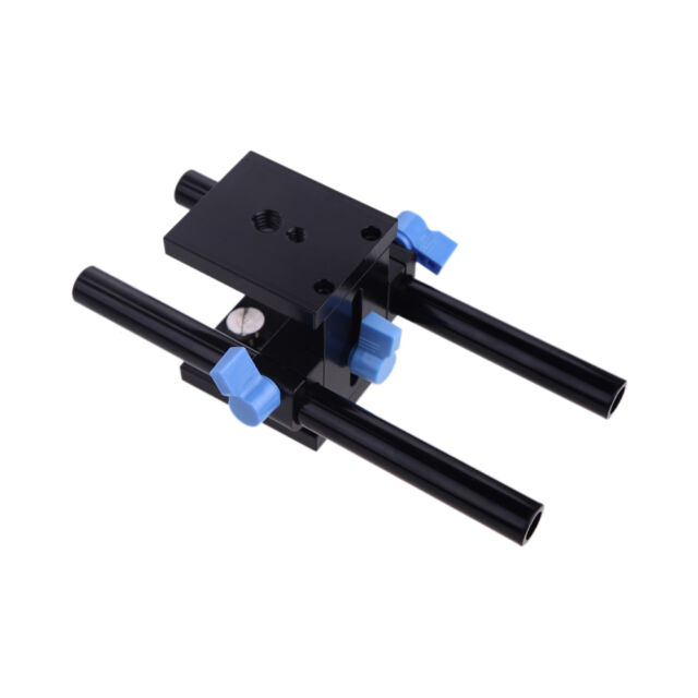 Rail System 15mm Rod Rig Grundplatte Mount for DSLR Follow Focus Rig 5D2 5D3 NEW