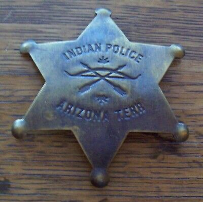 brass star Old West Lawman Badge: City Marshal Police Dodge City