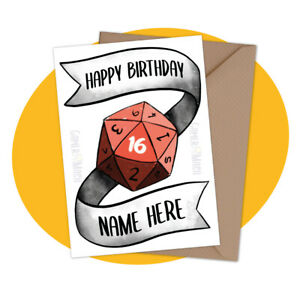 PERSONALISED-BIRTHDAY-CARD-Dungeons-amp-Dragons-personalized-table-dnd-gamer