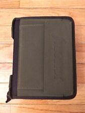 Rare Vintage Filofax Personal Pak Evergreen Organizer Planner Zip Around