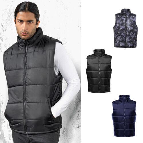 Quilted collared Slevveless Gilet Jacket Urban Fashion 2786 Men/'s Bodywarmer
