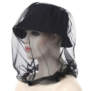 Fabric-46-46CM-Midge-Mosquito-Insect-Hat-Bug-Mesh-Face-Protector-with-a-IY