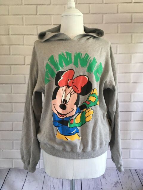 Mickeys Collection Vintage 90s Womens Minnie Mouse Hoodie Size 160