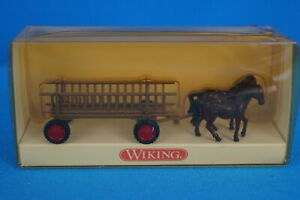 WIKING 893 0229 Cart & Horses NEW in OVP