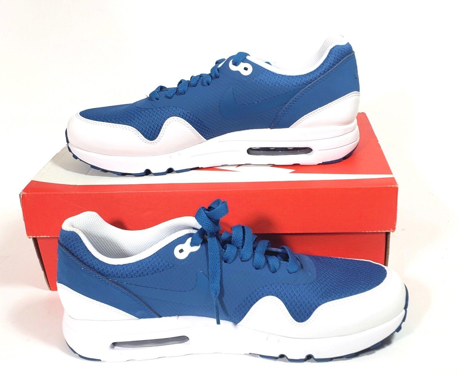 Nike Men's Size 9 Air Max 1 Ultra 2.0 Essential 875679-402 Industrial blueee