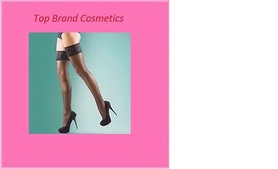Silky Sine Luxury Lace Top Stockings One Size Regular RED WHITE or Black