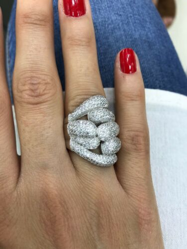 Turkish Handmade Jewelry Sterling Silver 925 Zircon Ring Size 6 7 8 9