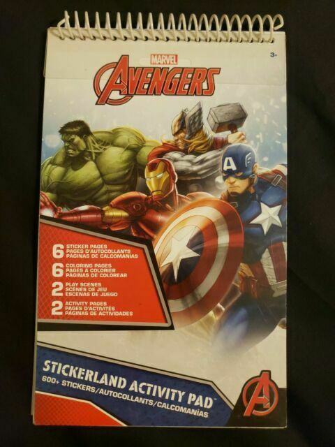 Marvel Avengers Assemble 600 Stickerland Activity Pad For Sale