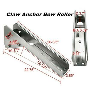 Amarine-Made-Boat-Stainless-Bruce-Claw-Anchor-Bow-Roller-23-Inch-X-3-1-2-Inch