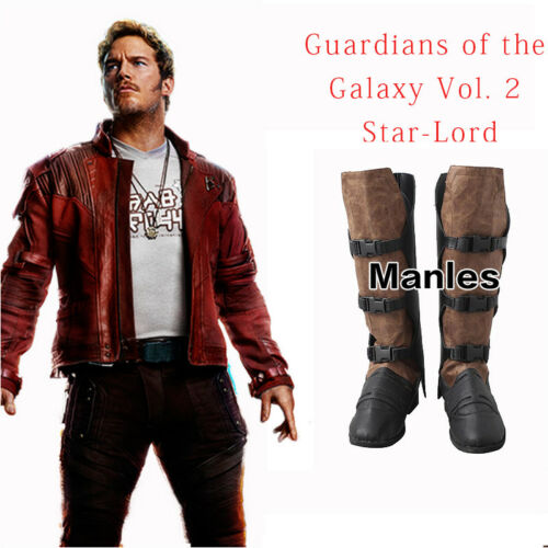Guardians of the Galaxy Vol 2 Shoes Star Lord Peter Jason Quill Boots Cosplay