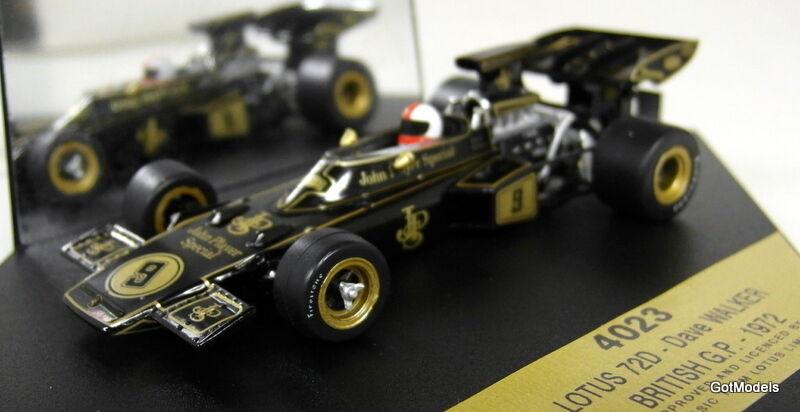 LOTUS LOTUS LOTUS 72D - 1 43 SCALE MODEL F1 CAR BY QUARTZO - DAVE WALKER BRITISH GP 72 4023 7ea25d