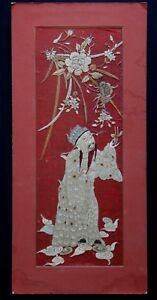 Broderie-chine-dignitaire-soie-Old-embroidery-textile-dignitary-chinese-XIX