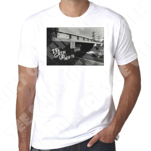 It/'s Grim Up North  Northerners Clubbing Rave mens printed t shirt