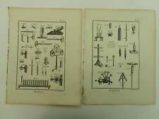 Encyclopédie Panckoucke Artificier 6 planches simples originales 1783 complet