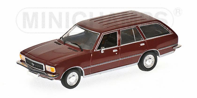 MINICHAMPS 400044012 - OPEL REKORD D voitureAVAN - 1975 ROUGE   1 43  jusqu'à 60% de réduction