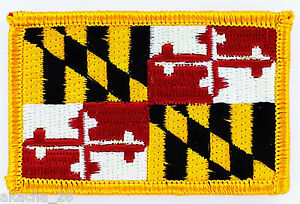 Ecusson Brodé PATCH drapeau MARYLAND USA AMERICAIN ETATS UNIS FLAG EMBROIDERED Verzamelingen