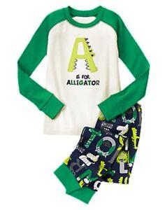 NWT Gymboree Zoo Animals Alligator Alphabets Gymmies Sleep Set Pajamas PJ 8 10