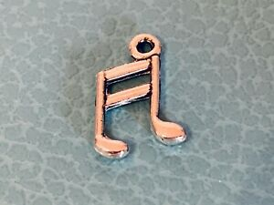 Tibetan Silver Treble Clef Music Musical Note Charms in Antique Silver