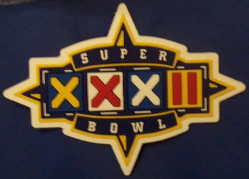 REAL Game Issued NFL Super Bowl Superbowl XXXII Vinyl JERSEY Patch