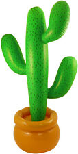 2x 170cm Inflatable Cactus Mexican Scene Setter Party Decoration
